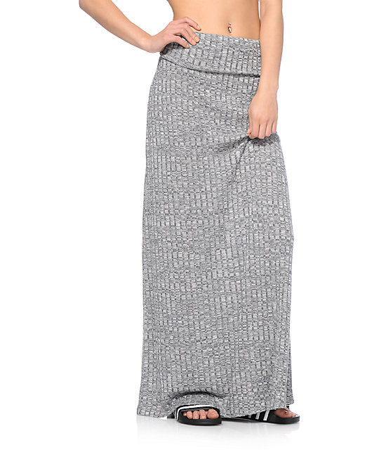 superior performance Super discount fast delivery Empyre Opal Charcoal Ribbed Maxi Skirt