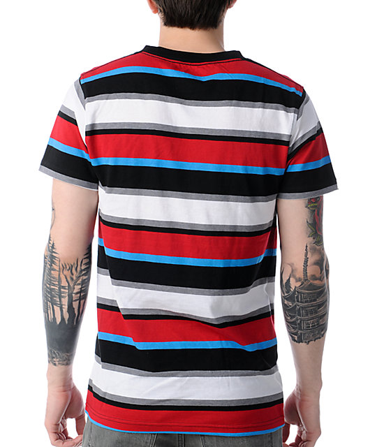 Empyre Orbit Red, Black, & Blue Striped T-Shirt