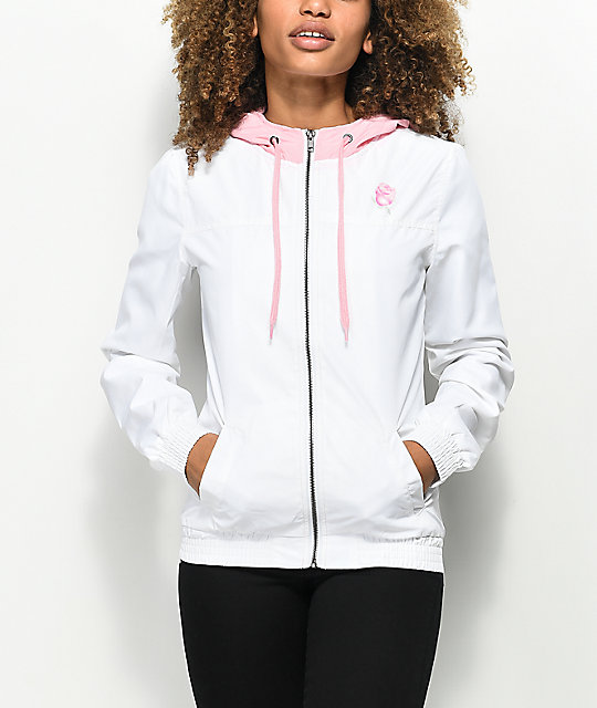 Empyre Oriana Never Ever Rose White Windbreaker Jacket