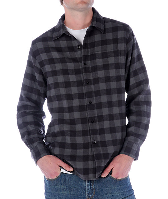 Empyre Pack Rat Grey Flannel Woven Shirt
