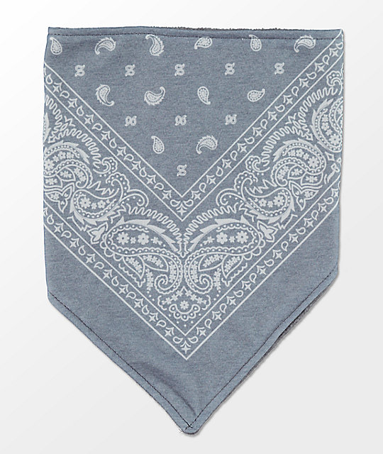 Empyre Paisley Heather Grey & White Facemask