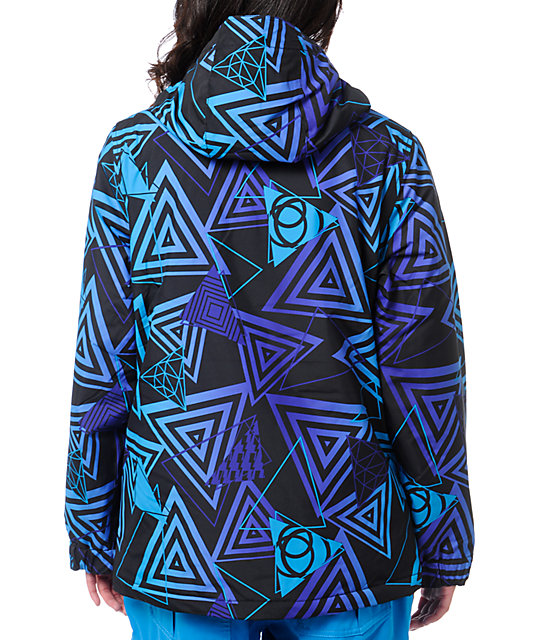 Empyre Palisade 10K Black & Purple Geo Snow Jacket