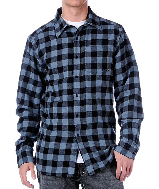 Empyre Park Rat Blue Flannel Shirt