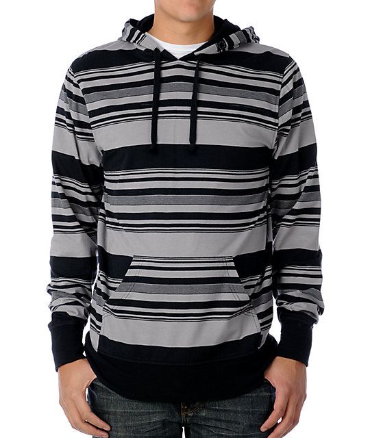 Empyre Parted Black & Grey Knit Hoodie