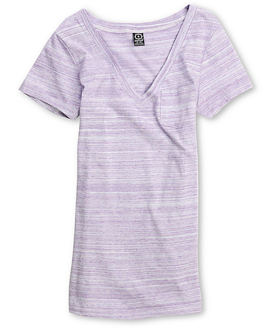 Empyre Phantasm Purple V-Neck Top