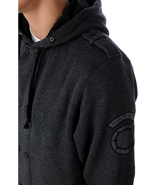 Empyre Phinney Charcoal Sherpa Hoodie
