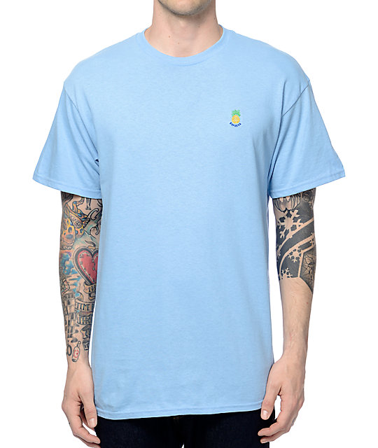 56c93a0665a7 Empyre Pineapple Express Light Blue T-Shirt | Zumiez