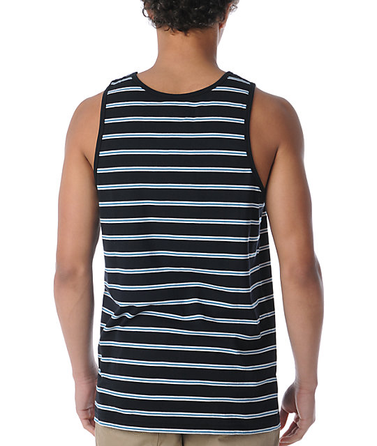 Empyre Po Boy Black Stripe Tank Top