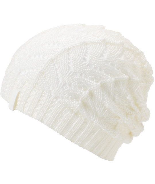 Empyre Polaris White Crochet Beanie