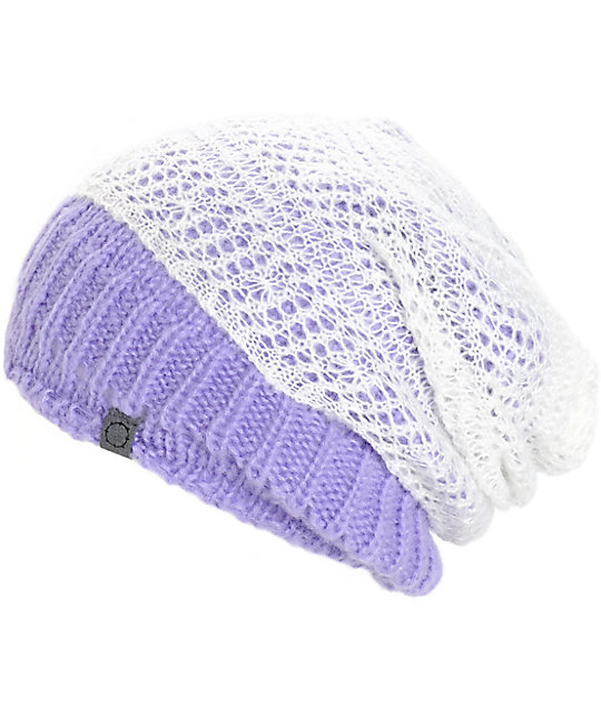 dd5eedb67c3 Empyre Rally Double Layer Lavender Beanie