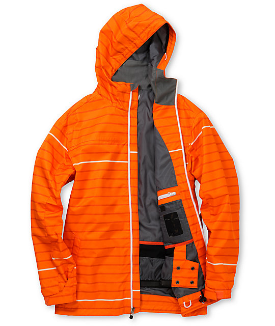 Empyre Ranger Orange Stripe 10K Snowboard Jacket