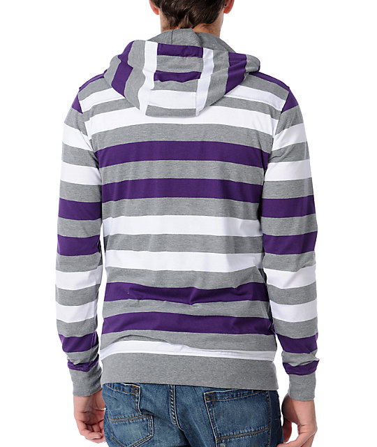 Empyre Recounted Purple Hooded Knit Shirt