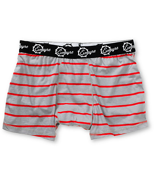 Empyre Redrum Grey & Red Stripe Boxer Briefs