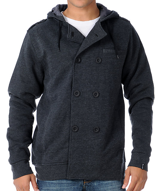 Empyre Reset Charcoal Hooded Pea Coat
