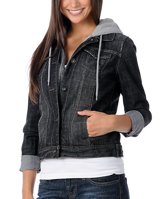 Empyre Resolve Black Jean Hoodie Jacket