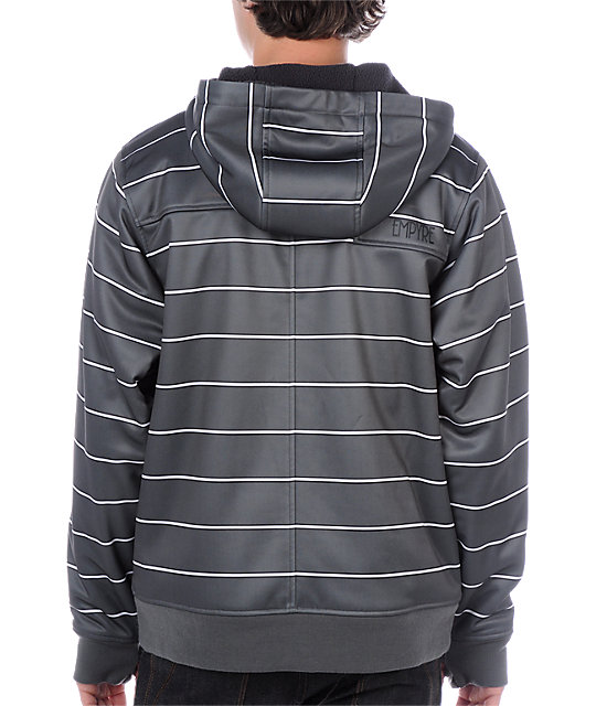 Empyre Retaliation Grey & White Tech Fleece Jacket