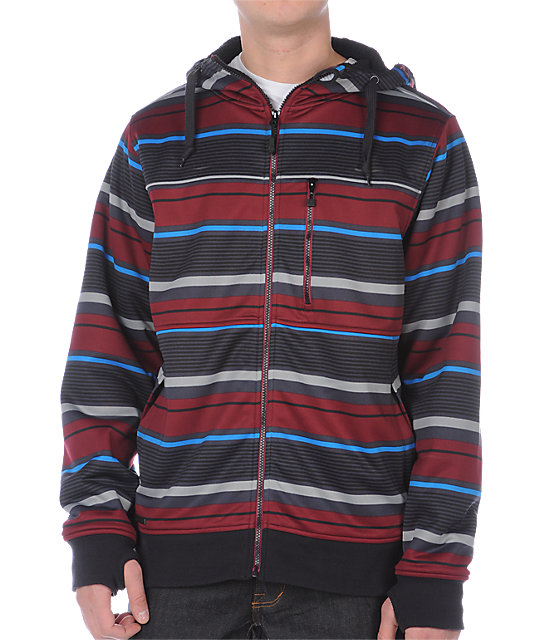 Empyre Retaliation Maroon Stripe Tech Fleece Jacket