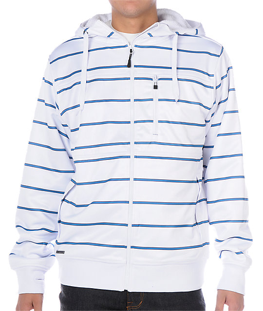 Empyre Retaliation White Stripe Tech Fleece Jacket