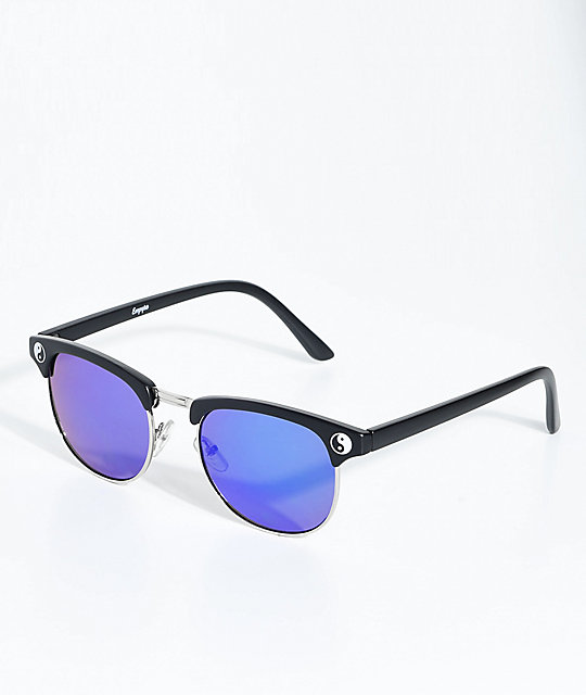 Empyre Retro Yin To My Yang Green & Blue Sunglasses