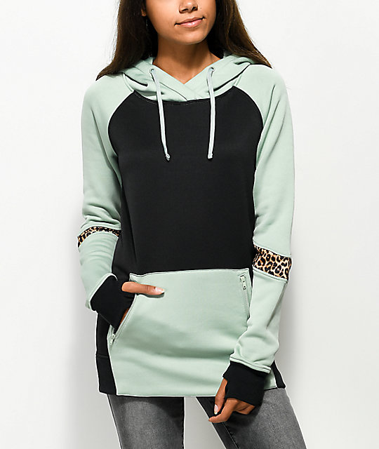 Empyre Ridgeline Tech Fleece Black, Green & Cheetah Hoodie