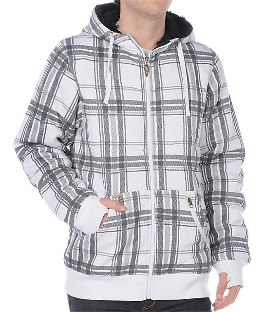 Empyre Roosev White Plaid Hoodie