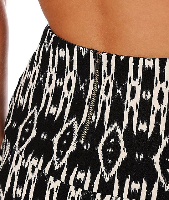 93da2a714 Empyre Rosella Black Tribal Fit & Flare Skirt | Zumiez