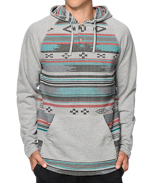 Empyre Rubicon Tribal Hooded Henley Shirt