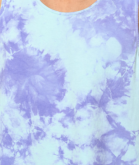 Empyre Runner Blue & Purple Tie Dye Tank Top