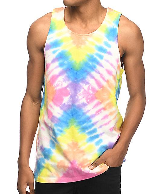827e9465d73a4c Empyre Runner Rainbow Tie Dye Tank Top Zumiez
