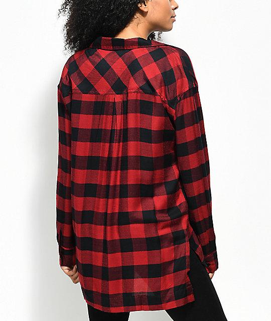 235007237cf5 ... Empyre Sahale Buffalo Red   Black Button Up Shirt