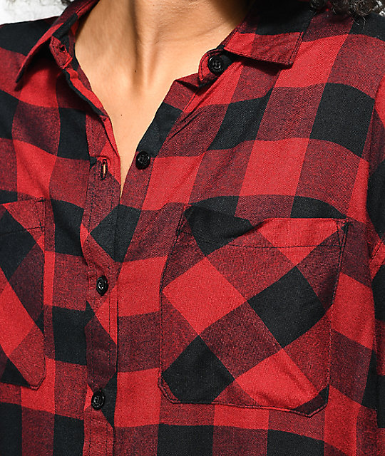 Empyre Sahale Buffalo Red & Black Button Up Shirt