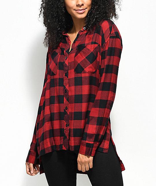 948500912b1d Empyre Sahale Buffalo Red   Black Button Up Shirt