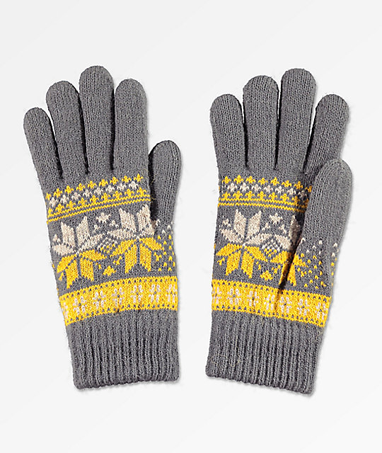 Empyre Sasha Grey & Gold Chenille Gloves