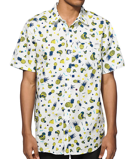 a73ecc283b Empyre Saul Silver Pineapple Button Up Shirt