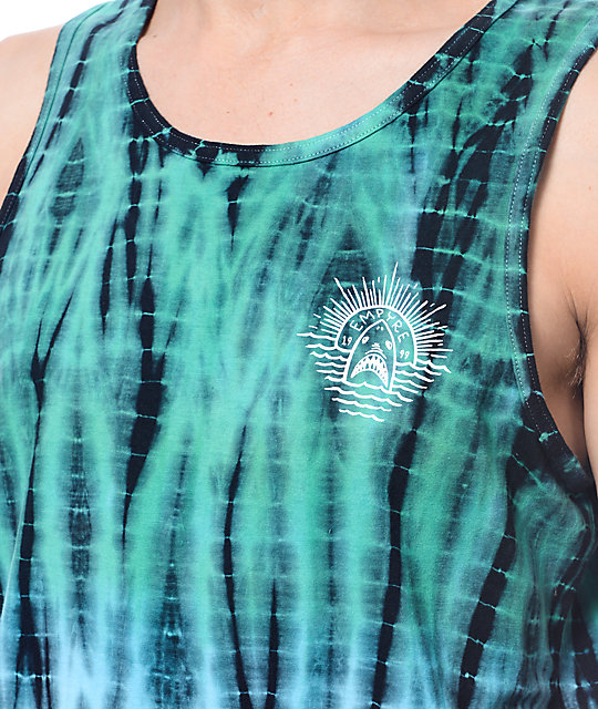 Empyre Scrambled Vertical Tie Dye Tank Top