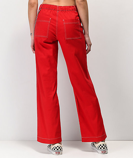 Empyre Sela Chain Red Wide Leg Pants