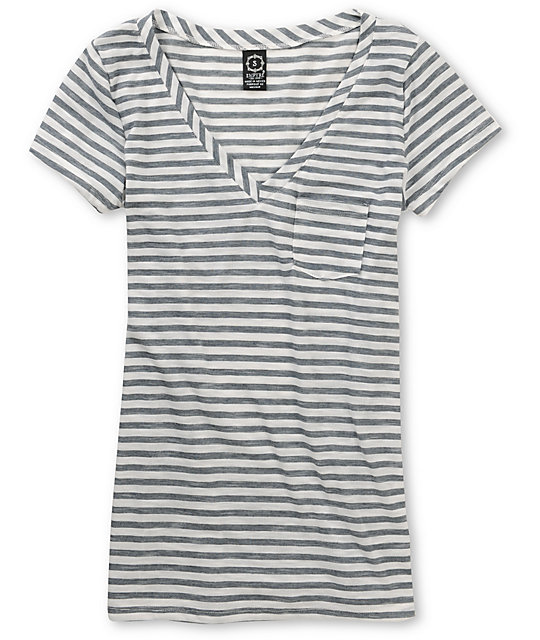 Empyre Sequential Nine Iron Grey V-Neck T-Shirt