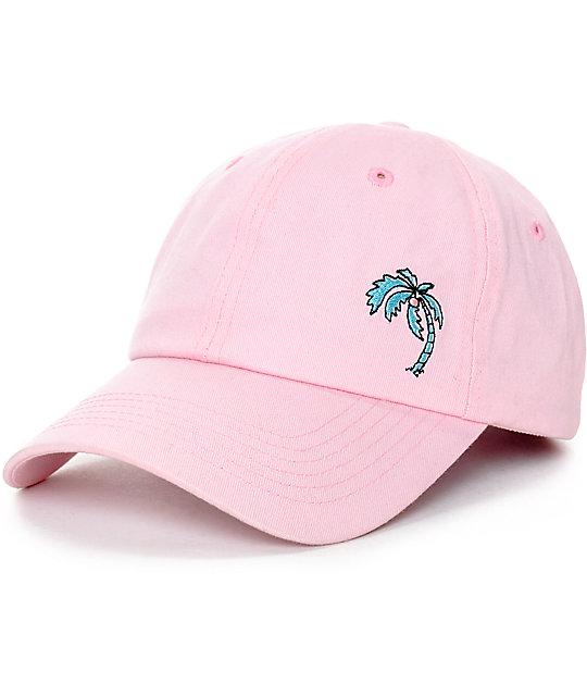 b36eccf50 Empyre Shady Palm Tree Pink Baseball Hat