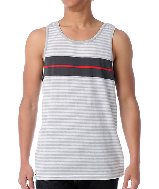 Empyre Shanty Grey Striped Tank Top