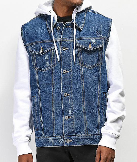 Clearance sale best shoes hot-selling discount Empyre Sidecar White & Blue Denim Jacket