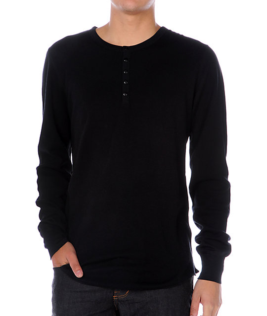 Empyre Singles Black Thermal Henley