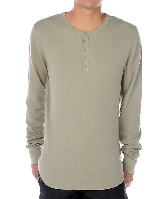 Empyre Singles Green Thermal Henley