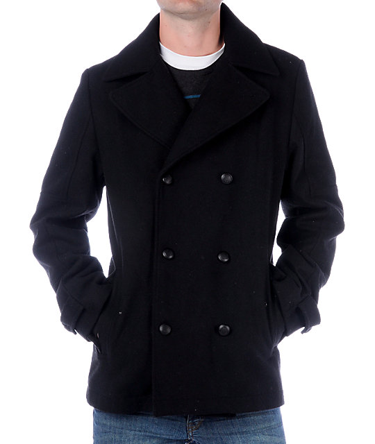 Empyre Sinister Black Pea Coat