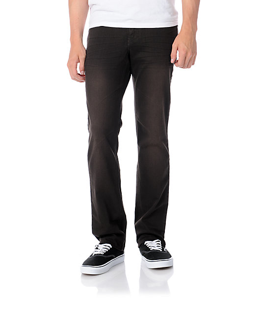 Empyre Skeletor Brown Slim Jeans