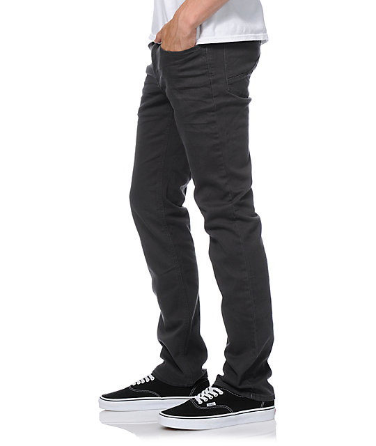 Empyre Skeletor Charcoal Grey Denim Skinny Jeans
