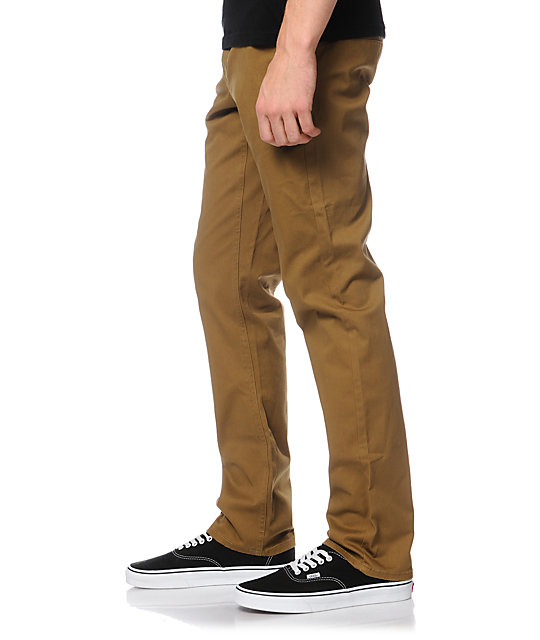 Empyre Skeletor Dark Khaki Skinny Chino Pants