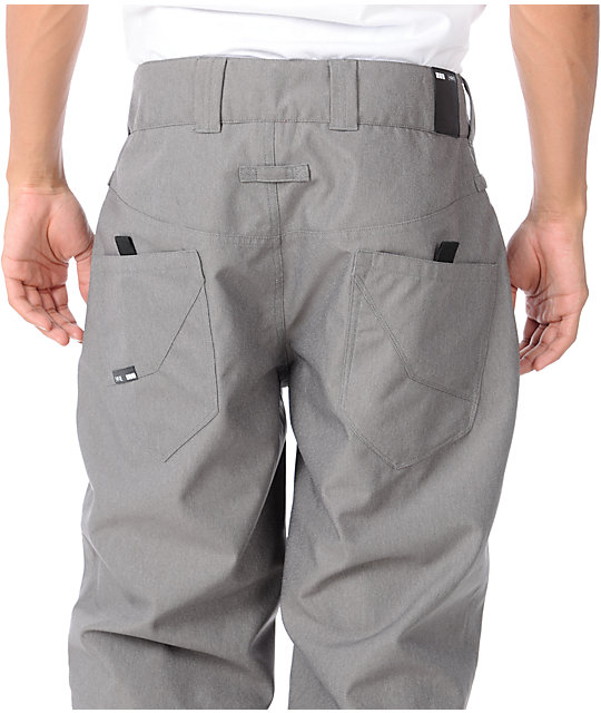 Empyre Skeletor Grey 10K Mens Snowboard Pants