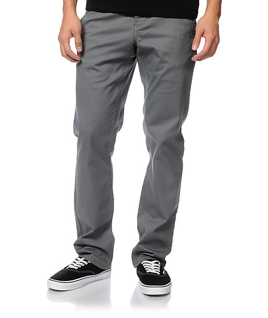Empyre Skeletor Grey Skinny Chino Pants