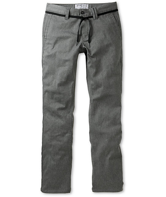Empyre Skeletor Heather Charcoal Skinny Chino Pants
