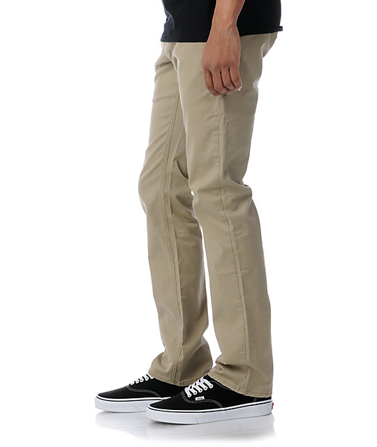 Empyre Skeletor Khaki Skinny Chino Pants